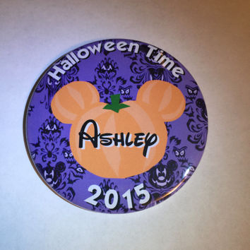 Disney Halloween Time 2015 Personalized Button