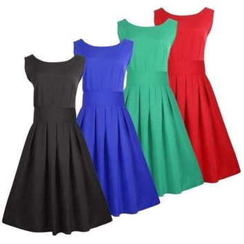 Vintage Lady Women's Dress Rockabilly Pinup Cocktail Evening Party Prom Dress US