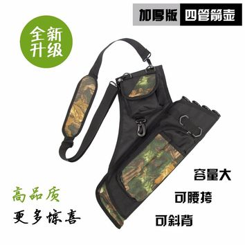 14*50CM Three Tubes Camo Archery Quiver Bag Shoulder Or Waist Carry Hunting Bow Arrow Bags Archery Arrow Quivers New Arrivals YI