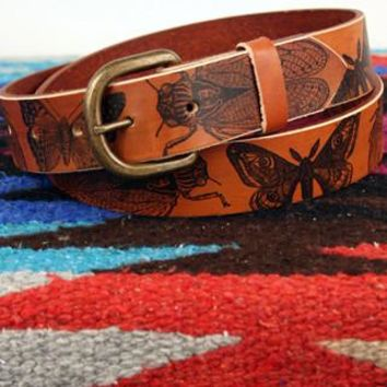 *Customizable* Leather Belt with Insects