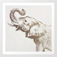 The Wisest Elephant Art Print by Paula Belle Flores