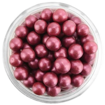 Satin Burgundy Sugar Pearls 5MM