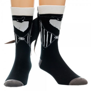 NBC Nightmare Before Christmas Jack Costume Crew Socks With Suit Tuxtails New