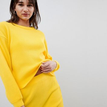 ASOS DESIGN Co-Ord Jumper In Rib at asos.com