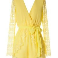 Yellow Mimosa Romper