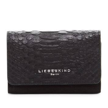Liebeskind Berlin Black Piper Trifold Black Leather Wallet