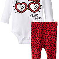 Hello Kitty Baby Baby-Girls Newborn Creeper and Legging Set, Multi, 6 Months