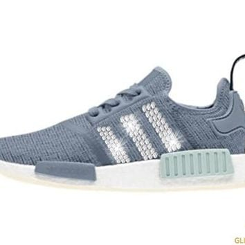 Adidas NMD-R1 + Crystals - Steel Blue