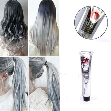 Fashion Light Gray Color Natural Permanent Super Hair Dye