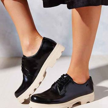 Camper Treaded Platform Oxford- Black