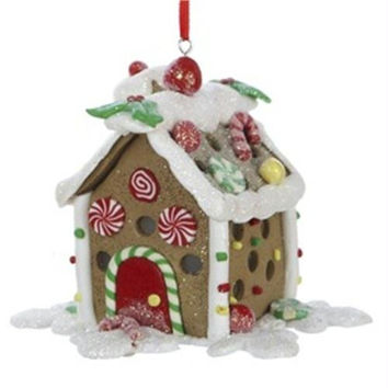Christmas Ornament - Brown Gingerbread House