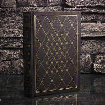 Hollow Book Safe - Tale of Edgar Allan Poe - Vintage 1979- LEATHER BOUND- 22k Gold