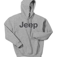 All Things Jeep - Jeep Dark Gray Original Logo Hooded Sweatshirt