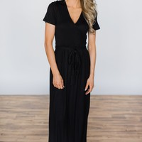 Ready for Anything Black Maxi Dress