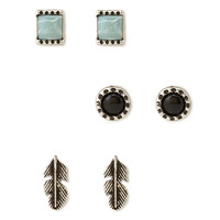 Earth Stone Stud Set
