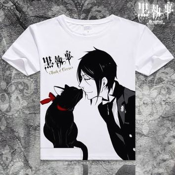 Black Butler Short Sleeve Anime T-Shirt V20