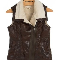 Chor Faux Leather Vest
