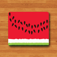Watermelon Red Seed Melon Fruit Mouse Pad Flowering Plant Printed MousePad Rectangle Rubbber Mat Personalized Gift Desk Deco Chistmas Gift