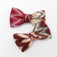 Fabric Bow Hairclips