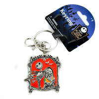 Jack Sally Nightmare Before Christmas Keychain Halloween