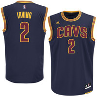Mens Cleveland Cavaliers Kyrie Irving adidas Navy Blue Alternate Replica Jersey