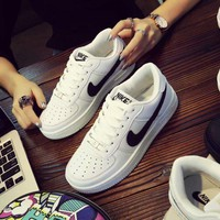 """Nike"" Unisex Simple Casual Fashion Thick Bottom Low Help Plate Shoes Couple Sneakers"