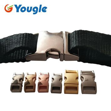 5 Pcs/Lot Metal Curved Wedding Slot Quick Side Release Buckle Buckles 3/8'' 5/8'' 7/8'' inch Paracord Bracelet  Dog Collar Bag