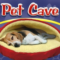 Pet Parade Pet Cave Dog Bed (Red Round)