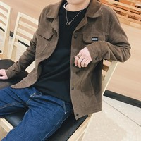 Men Men's Fashion Lights Vintage Slim Jacket [10881219971]
