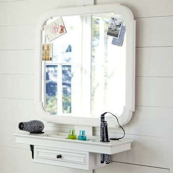 Classic Getting Ready Mirror & Shelf | PBteen