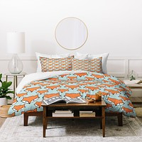Allyson Johnson So Foxy Duvet Cover
