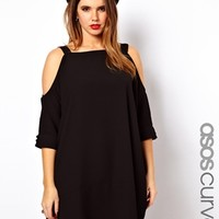 ASOS Curve | ASOS CURVE Swing Dress With Cold Shoulder at ASOS