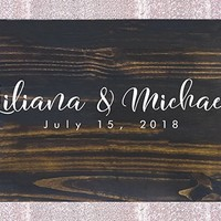 FAST SHIPPING Rustic Wedding Guest Book Alternative Guest Book Wedding Guestbook Alternative Custom Guest Book Wood Guest Book Canvas Wedding Guestbook. Sign #C7