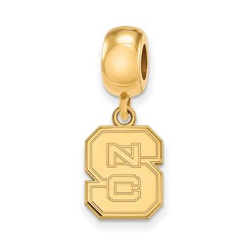 NCAA 14k Gold Plated Silver North Carolina State Univ. 'NCS' Charm