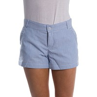 Seersucker Poplin Shorts in Royal Blue by Lauren James