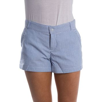 Seersucker Poplin Shorts in Royal Blue by Lauren James - FINAL SALE