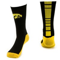 Mojo Iowa Hawkeyes Champ 1/2-Cushion Performance Crew Socks - Women, Size: 9-11 (Yellow)