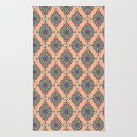 Vintage Moroccan Pattern in Peach Rug by Heaven7