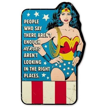 WONDER WOMAN Embossed Metal Sign