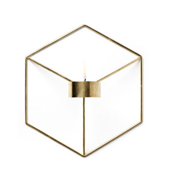 brass pov candle holder / wall