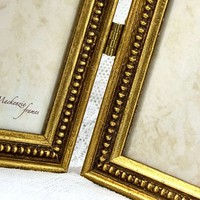 Hinged Double 4x6 inch Frame in Antique Gold/Desktop Office Photo Frame/Family/Wedding Photos/Two Hinged 4x6 inch Photo Frames