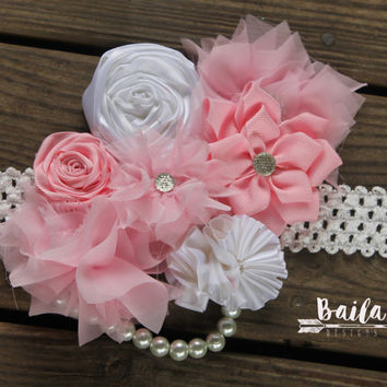Pregnancy sash, Maternity photo prop, baby shower corsage, baby shower sash, its a girl sash, gender neutral sash, pink belly sash, baby