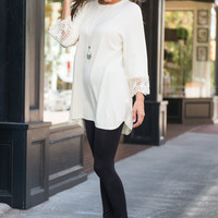 Holding On To Happiness Tunic, Cream