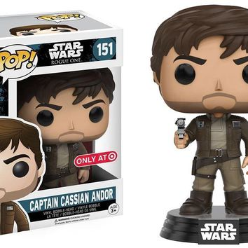 Target Exclusive Captain Cassian Andor Star Wars Rogue One Funko Pop! #151
