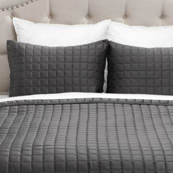 West Street Quilted Coverlet Set - Dark Grey | Free Shipping | Free Shipping | Z Gallerie