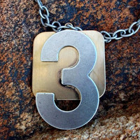 The Number 3.......... Another Altered Necklace And Bonus Ring By AlteredHead On Etsy