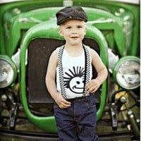 Knuckleheads Clothing - Checkerboard Suspenders | Kiddos Cool Clothing