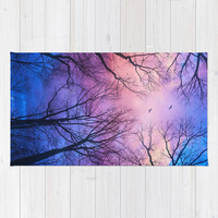 A New Day Will Dawn (Day Tree Silhouettes) Rug by Soaring Anchor Designs
