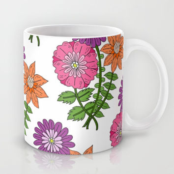 Bouquet Pattern Mug by PeriwinklePeacoat | Society6