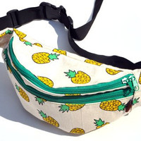 Unique fashion,pineapple design ,fanny pack , belt pouch, travel pouch, waist pouch, hip bags, waist bags, hip pouch, canvas pouch